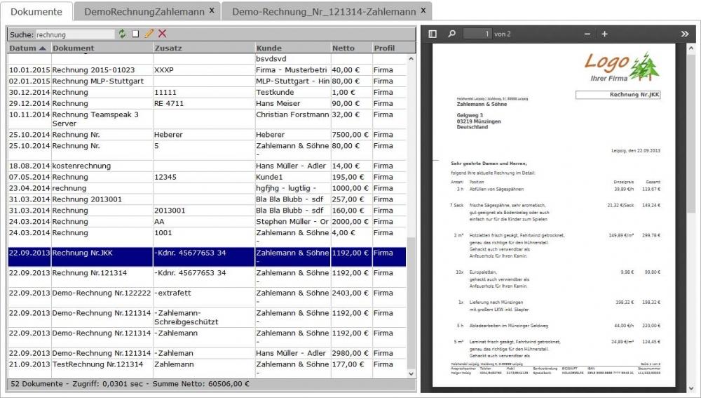 Online Rechnung Und Dokumente Mit Logo Erstellen Freeware Php Script